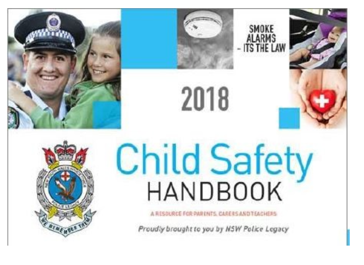 Cover of the Child Safety Hanbook, a resource for parents, carers and teachers.
